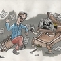 Ben Folds fighting his piano by jim-ether