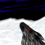 Wild Rabbit in Snow by Lugen