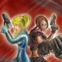 Samus and Lara by BinaryDood