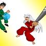 Yusuke vs Inuyasha by Ahnold20