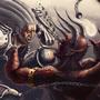Demon Battle by InsolentMinx