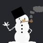 Pixel Snowman by Gimmick