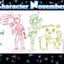 Character November Week 1 by ZombieMonkey