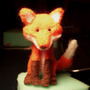 Needle Felt Fox by MoriChax