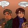 Sherlock Holmes and Watson by Lazyfeet
