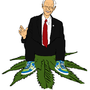 Ron Paul Flying Weed by FuckingCrazyLunatic