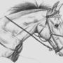Horse Sketch by Lowgan