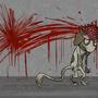 zombie smeargle by tiffunee