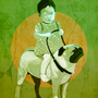 Girl Riding a Dog by Buzzwerd