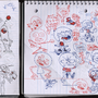 red and blue doodlez by Bmac