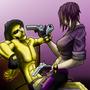 Mr. Goldiglock and Natalia by MST3KMAN