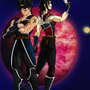 Viara & Tawl (DBZ OCs) by ZombieBunnies
