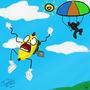 Parachute Fail! by MrKittie