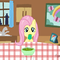 Fluttershy eating Jelly Cubes