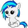 Filly Vinyl Scratch by RainbowFlavoredChaos