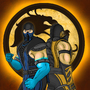 Sub-Zero & Scorpion by DeathW1ng