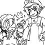 Link-Luigi-mario-pika? by MAZEGREEN