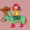 Riding a Donkey!