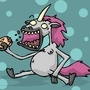 A UNICORN EATING MEAT PIE by Gerkinman