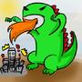 Dinosaur Attack by Chocobogirl
