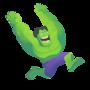 Happy Hulk by StickDinosaur