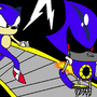 Sonic vs Metal sonic by skeletonking1234