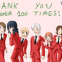 THANKS OVER 100 TIMES by bocodamondo