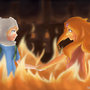 Finn and Flame Princess Fanart by circlebox