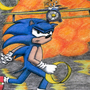 Sonic chalk pastels by kalabor106