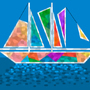 Stainglass Boat by BeeClock