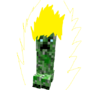 Super saiyan creeper by TheShoelessChicken