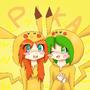 anna and natz pikachu by kittimitti