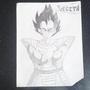Vegeta (Pencil drawing) by ninjawafflez