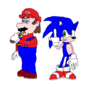 Mario and Sonic by JonathanSmith33