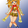 Roll Cosplaying as Rikku by Goldsickle