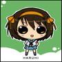 Chibi Haruhi by ThinkingSecretly