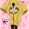Alice in a Pikachu Hoodie