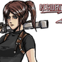 RE2 Claire by Shadowblackfox