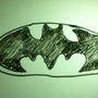 White Board Batman Logo by BLACKNEND