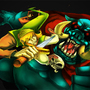 Link Vs Ganon by TaraGraphics