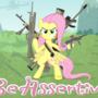 Fluttershy Sez Be Assertive by HeartOfTheStorm