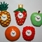 Five Fruitclock Fridge Magnets