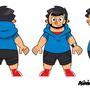 Character turnaround sheet.