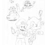 Mario & Sonic-Characters by rubinho146