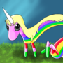 lady rainicorn by megadrivesonic