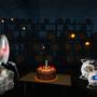 Portal 2 cake gathering by Swordalchemist