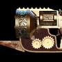 Steampunk revolver by whatthemeh