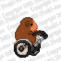 16-Bit Joe Riding Segway by WaldFlieger