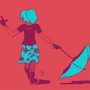 Blue Umbrella by TinyRobot