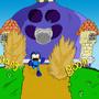 Megaman VS Rocket Slime by DarkTopaz